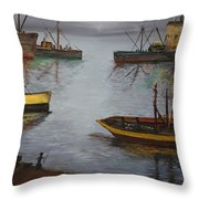 Oil Msc 024  Throw Pillow