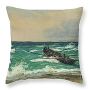 Oil Painting Danish Golden Age Throw Pillow