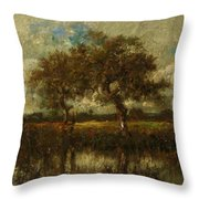 Oil Painting Landscape Throw Pillow