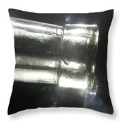 Oil Pouring From Bottle Throw Pillow
