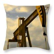 Oil Pumpjack II Throw Pillow