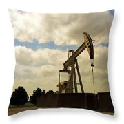 Oil Pumpjack Throw Pillow
