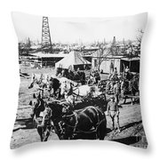 Oil: Texas, 1920 Throw Pillow