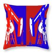 Oil Well Pump Abstract Throw Pillow