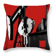 Oil Well Pump #4 Throw Pillow