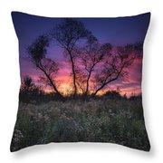 Ojibway Sunset Throw Pillow