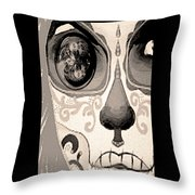Ojo Del Dia De Los Muertos Throw Pillow