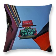 Ok Bicycle Umbrella Throw Pillow