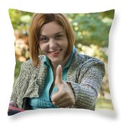 Ok Sign Throw Pillow