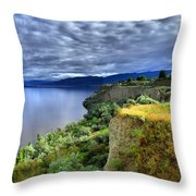Okanagan Lake On A Thursday Throw Pillow