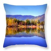 Okanagan Mountains Throw Pillow