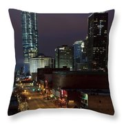 Okc Evening Throw Pillow