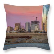 Okc Sunset Throw Pillow