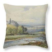 Okehampton Castle Throw Pillow