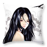 Okinawa Girl Throw Pillow