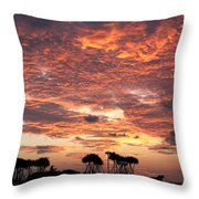 Okinawa Sunset Throw Pillow