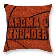 Oklahoma City Thunder Leather Art Throw Pillow