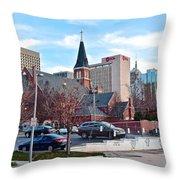 Oklahoma City Wide Angle Throw Pillow