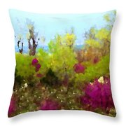 Oklahoma Spring Colors Throw Pillow