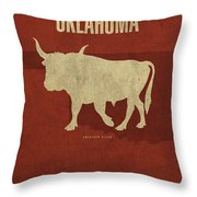 Oklahoma State Facts Minimalist Movie Poster Art Throw Pillow