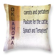Oklahoma State Song Throw Pillow