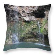 Oklahoma Waterfall Throw Pillow