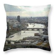 Ol' Man River Throw Pillow