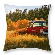 Old '58 Throw Pillow by John De Bord