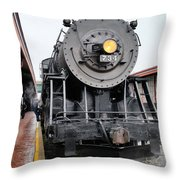 Old 734 Engine Throw Pillow