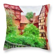 Old Aarhus Throw Pillow