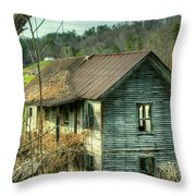 Old Abandoned Home Throw Pillow