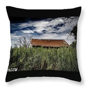 old abandoned house Texico NM Throw Pillow