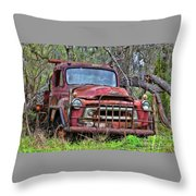 Old Abandoned International Truck Throw Pillow