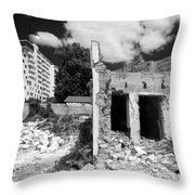 Old Against New Throw Pillow