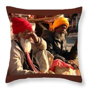 Old Age Buddies Throw Pillow