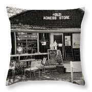 Old Agness Store Throw Pillow