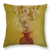 Old Amber Bottle With New Purpose Throw Pillow