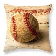 Old American Baseball Throw Pillow