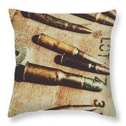 Old Ammunition Throw Pillow
