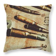Old Ammunition Throw Pillow