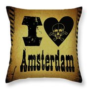 Old Amsterdam Throw Pillow