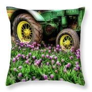 Old And New Throw Pillow by Bonnie Bruno