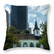 Old And New Houston Throw Pillow