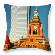 Old And New In Dallas Throw Pillow