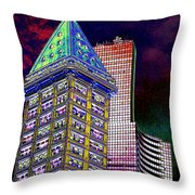 Old And New Seattle 2 Throw Pillow