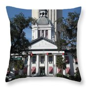 Old And New State Capitol Throw Pillow