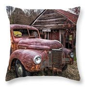 Old And Rusty Throw Pillow