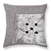 Old And Tile Throw Pillow