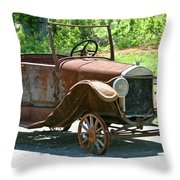 Old Antique Vehicle Throw Pillow