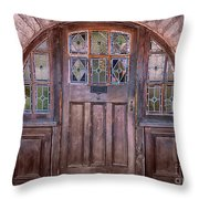 Old Arched Doorway-tucson Throw Pillow